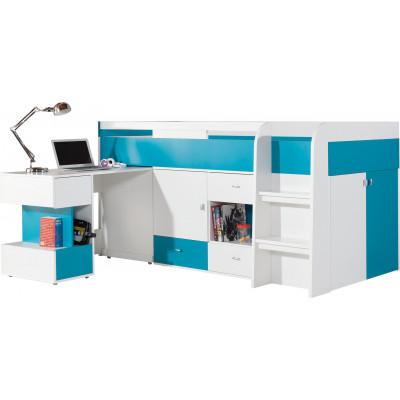 Łóżko piętrowe z biurkiem MO21 MOBI
